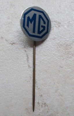 Badge Vintage Pins Auto Automobile MG Royaume-Uni UK ancien 1970s