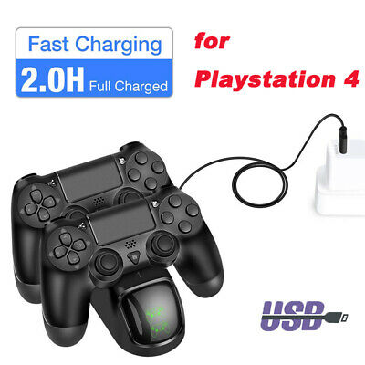for PS4 Dual Controller Fast Charger Charging Dock Station Stand Dualshock USB