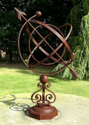 Concordia Wrought Iron Scroll Design Garden Armillary Sundial Sphere
