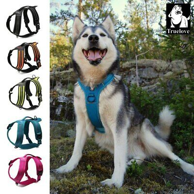 Truelove No-Pull Strong Adjustable Dog Harness Reflective XS S M L XL 5 Colours