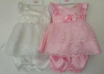 Baby Girl Sun Party Dress Knickers Pants Frilly Spanish Premature Prem Reborn