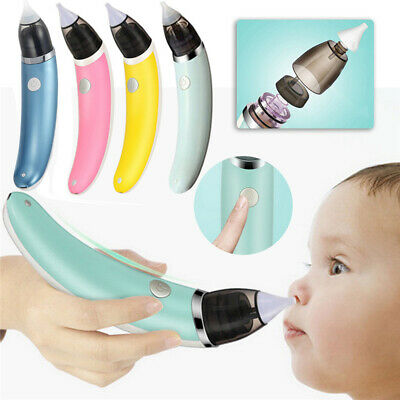 Newborn Baby Infant Safe Electric Hygienic Quick Snot Sucker Suction Nose Clean