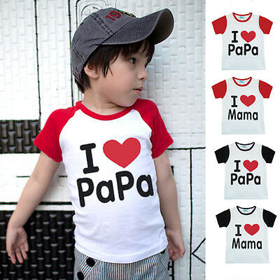 Toddler Kids Girls T-shirt Tops Baby Boys Outfits Summer Clothes 0-36Months