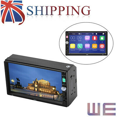 """7"""" inch Double Din Car HD MP5 Player + Camera Bluetooth Stereo Radio Mirror Link"""
