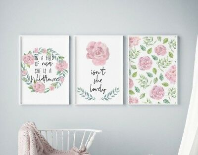 BD09 You Are So Loved Watercolour Bunny Nursery Kids Room Print Home Wall Art