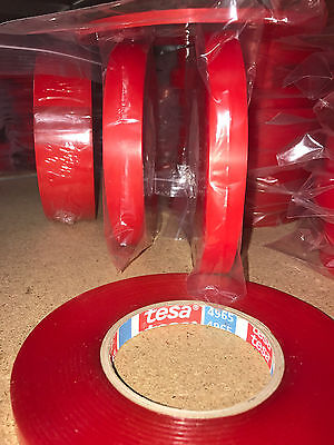 Genuine Tesa 4965 Double Sided Hemming Tape - 3mm to 50mm  - 50M Rolls