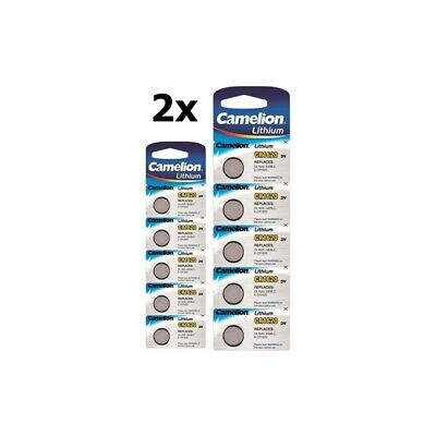 AU BS312-2x Camelion CR1620 lithium button cell battery 2x Blisters