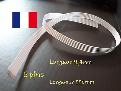 Cable FFC 5 pins contacteur tournant airbag Renault.