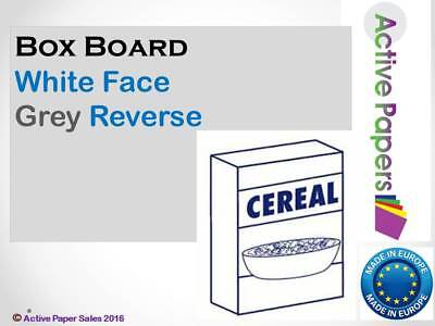 Cereal Box Card White Face Grey Back 300gsm - A5 A4 A3 A2 Thick backing card
