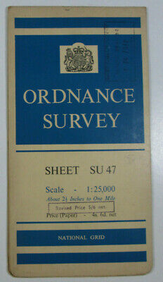 1960 Old Vintage OS Ordnance Survey 1:25000 First Series Map SU 47 Chieveley