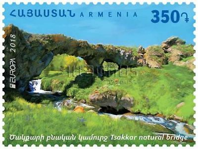 Armenia MNH** 2018 International. Europa Europe Bridges in village Tsakkar