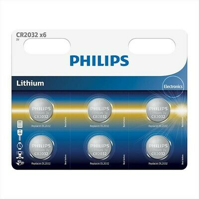 AU BS013-1x 6-Pack Philips CR2032 lithium button cell battery 1x Blister