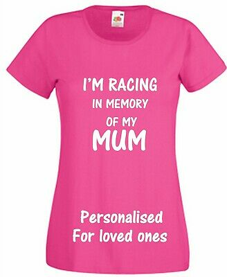 Pink Cancer T shirt Wear Pink For Charity Race Personalised Love One Muddy Run