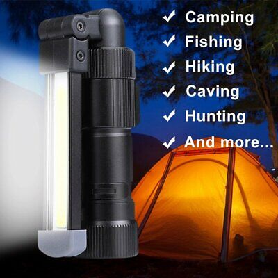 Magnetic LED COB Inspection Lamp Work Flashlight Light Rechargeable USB Torch BP
