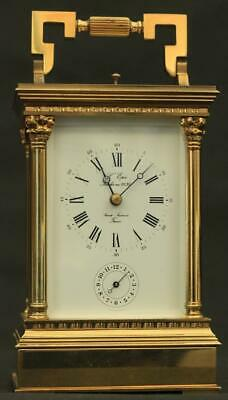French L'epee 8 Day Grande Striking Repeater Venitienne Alarm Carriage Clock