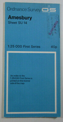 1972 Old Vintage OS Ordnance Survey 1:25000 First Series Map SU 14 Amesbury