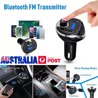 FM Transmitter Wireless Bluetooth Car Radio Player USB Charger Music MP3 Gift BP