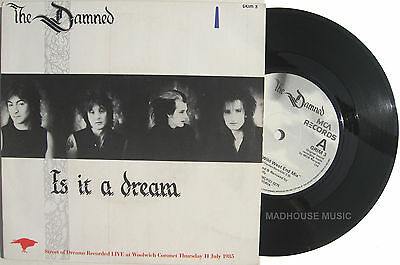 "Punk The DAMNED 7"" Is It A Dream  / Streets Of Dreams - LIVE 1985 EX / MINT"