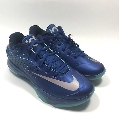 buy popular c1671 d721f Nike KD VII 7 Elite size 10.5 Gym Blue Metallic Silver 724349-404 basketball