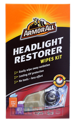 Armorall Headlight Restorer Wipes Kit No Tools Required