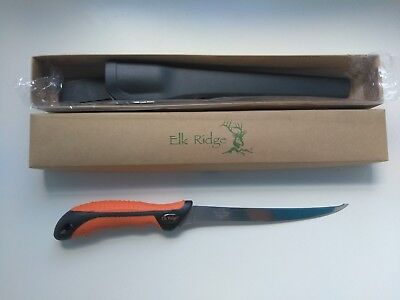 "12.5"" ELK RIDGE FISHING, CAMPING, HUNTING, FISH FILLET KNIFE Double cut blade"