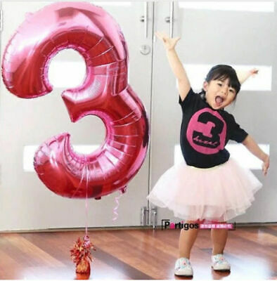 16 32 Inch Number Balloons Foil Ballon Wedding Party Birthday Decor Baby Shower