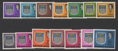 Northern Rhodesia Sg75/88 1963 Definitives Mnh
