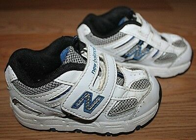 2d5a165736a79 Toddler Kids Unisex NEW BALANCE 487 White Blue Silver Shoes KV487WBI -Size  5!
