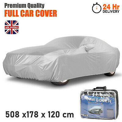 Heavy Duty Waterproof Full Car Cover Rain UV Protection Breathable Large Size UK