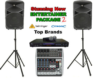 Professional Quality Karaoke Machine Entertainer Venue Package (Order Code Ent)