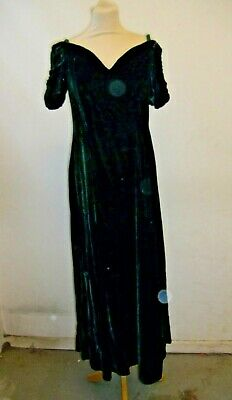 Vintage Green Velvet Evening Gown