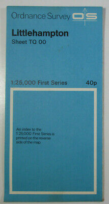 1959 Old Vintage OS Ordnance Survey 1:25000 First Series Map TQ 00 Littlehampton