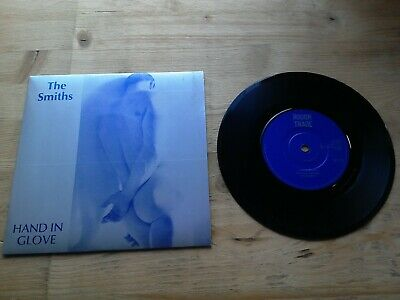 """The Smiths Hand In Glove 7"""" Single EX Vinyl Record RT 131 P/S Solid Centre"""