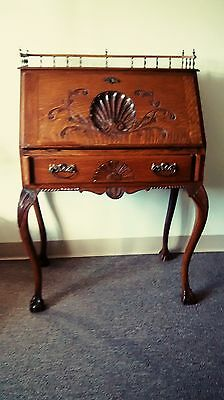 Victorian Antique( Tiger Oak) Petite Writing Desk  Pre 1800   Local Pick Up Only