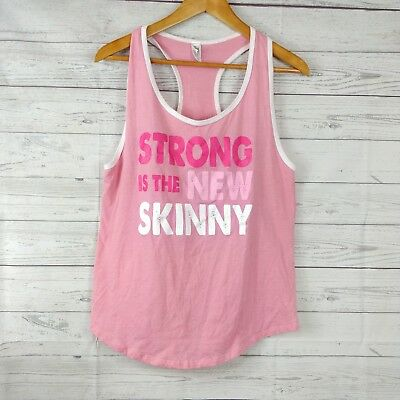 175633bd8dc897 Center Stage womens large athletic tank top racer back pink strong is new  skinny