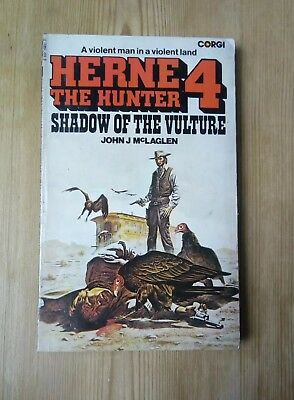 Herne The Hunter 4 Shadow Of The Vulture Cowboy Pulp Western Vintage 1977 Corgi