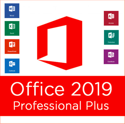 Microsoft Office 2019 Professional Plus - Official Download & Key- 32/64 Bit