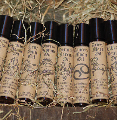 ZODIAC/ASTROLOGY ESSENTIAL OILS, Choose Your Sun Sign, Pagan, Wicca, Witch