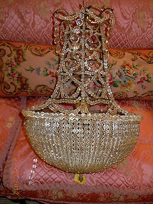 ~Rare~ Omg Fabulous Antique European Glass Beaded/Crystal Chateau Chandelier!!!