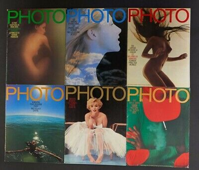 French PHOTO Magazine x 6 Issues 1974 Number 76-87 Photography Fashion Design