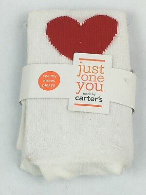 Baby Girls' Heart Tights ‑ Just One You By Carter's ‑ White/red (B2)
