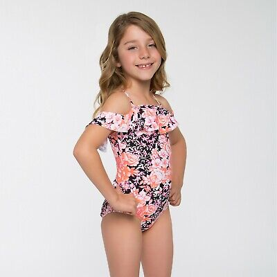d231b26d9b NEW - Girl's (M) Cleobella Turquoise UPF 50+ Pink Floral One Piece Swimsuit
