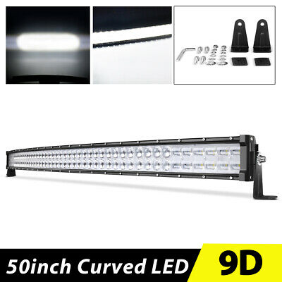 """52inch Curved LED Work Light Bar 700W 9D Combo Offroad for Jeep SUV Truck 50"""""""