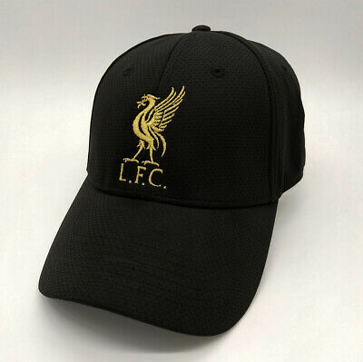 ca80d9f4d87 Liverpool FC Black Baseball Hat with Gold Logo Free Worldwide shipping from  EU