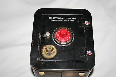 Vintage Still Bank- The Gettysburg National Bank-With Working Combination Lock
