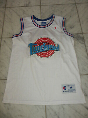 online store dda4f a28e5 MICHAEL JORDAN SPACE Jam Tune Squad Stitched Champion Vintage Jersey Youth M