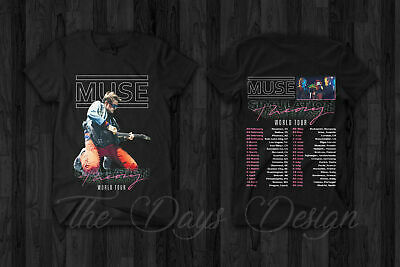 Muse Simulation Theory World Tour 2019 Merch Rock Music Conce T-Shirt Size S-5XL