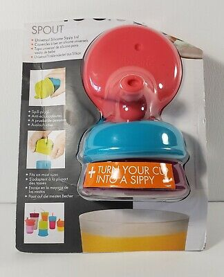 Boon Snug Silicone Sippy Lids, Pink/Blue/Purple **BRAND NEW**