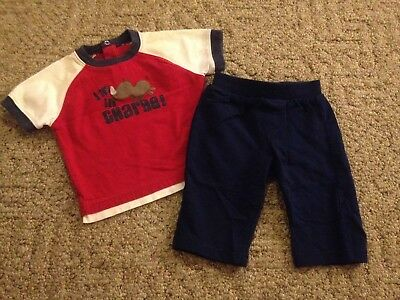 Baby boy 2-piece outfit size 6 months Carter's Circo pants shirt