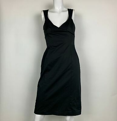 Elie Tahari Dress Sleeveless Black Bodycon Cocktail Formal Party Sz S M